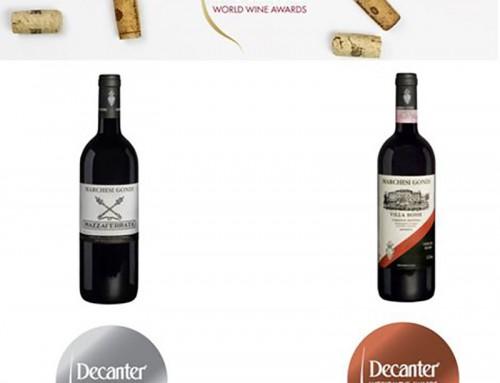 Mazzaferrata 2015 and Villa Bossi 2016 Awarded at Decanter World Wine Awards 2020
