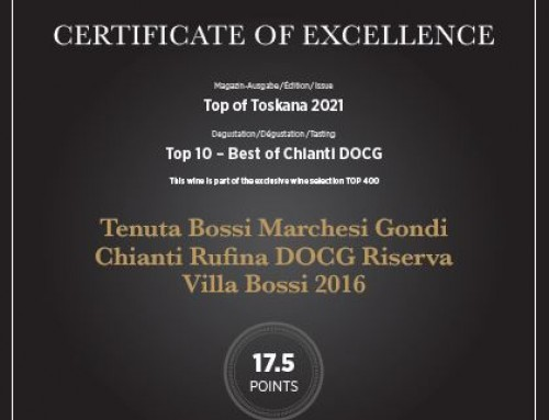Vinum – Top of Toskana 2021 e Marchesi Gondi – Tenuta Bossi