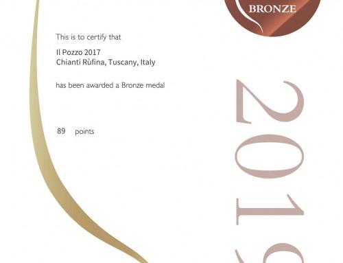 Rivista Decanter Premi Mondiali del Vino 2019 Podere il Pozzo Vendemmia 2017