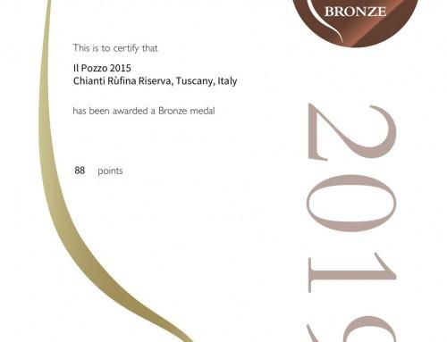 Rivista Decanter Premi Mondiali del Vino 2019 Podere il Pozzo Riserva 2015