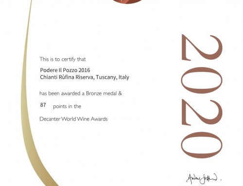 Decanter Magazine World Wine Awards 2020 Podere il Pozzo