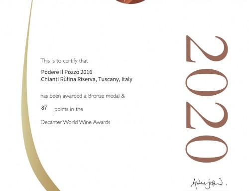 Rivista Decanter Premi Mondiali del Vino 2020 Podere il Pozzo
