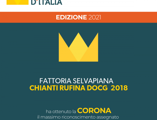 Selvapiana's Chianti Rufina gets the CORONA award from the Vinibuoni d'Italia Guide