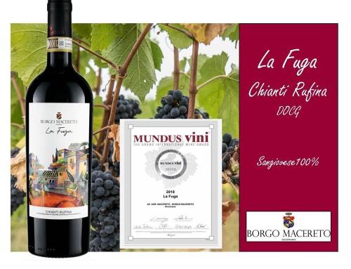 La Fuga 2018 Chianti Rufina DOCG Organic Wine – Silver Medal MUNDUS VINI MEININGER 2020