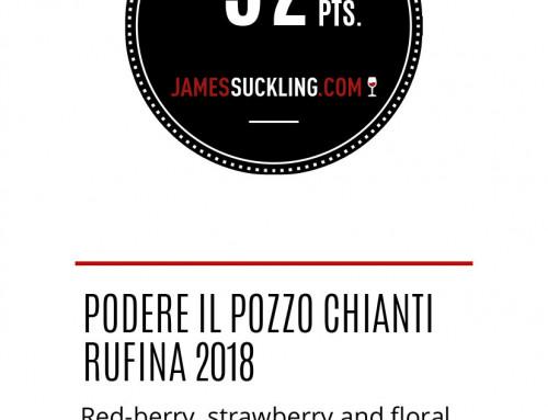 Medaglia argento JAMES SUCKLING 2021 Podere il Pozzo